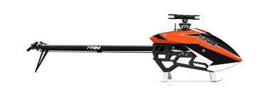 Tron 5.5 Helikopter-Bausatz, Orange-Schwarze Haube, MKS-Bundle